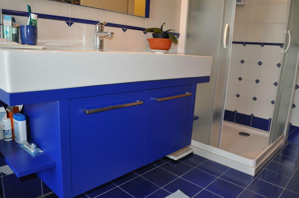 Bagno blu mobili arredamenti serramenti cucine su misura